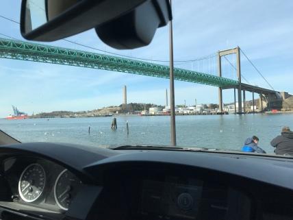 The bridge above us